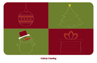 Happyholidays1 Greeting Card (55x85)
